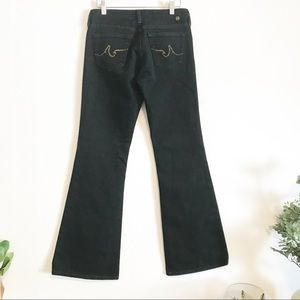 AG The Club black flare jeans